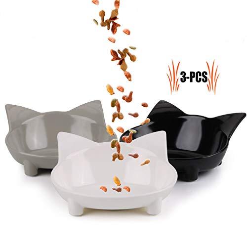 Futternapf Katze, Legendog 3 Stück Edelstahl Rutschfest Katzen Napf | Katzennapf Set | Fressnapf Katze | Futterschüssel Katze | Wasser Fütterung Schüssel