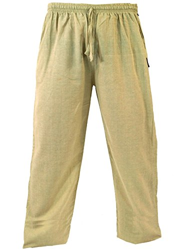 Guru-Shop Yogahose, Goa Hose, Herren, Grün, Baumwolle, Size:XL (52), Männerhosen Alternative Bekleidung