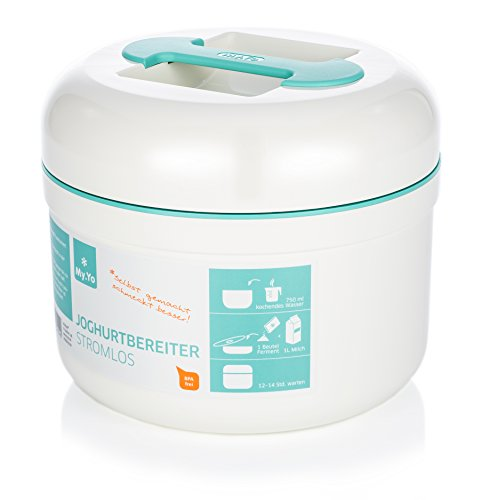 My.Yo Stromloser Joghurtbereiter, Mint + 2 Beutel Bio-Fermente gratis!
