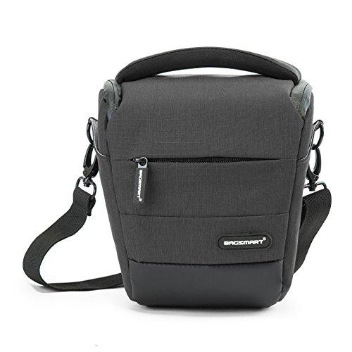 BAGSMART Kompakte SLR / DSLR Kameratasche mit Regenschutz Grau