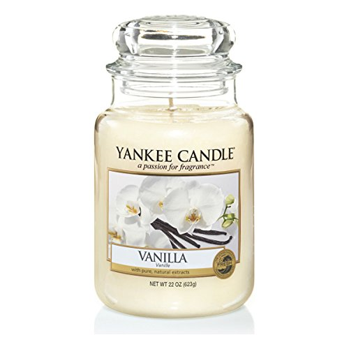 Yankee Candle Glaskerze, groß, Vanilla