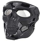 MAJOZ Taktische Maske, Schutzmaske für Airsoft/Paintball/Motorrad/Cosplay/Schutz/Zombie Soldaten/Halloween Masqürade/Schädel CS Mask