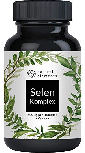 Selen Komplex - 365 Tabletten mit je 200µg - Vergleichssieger 2019* - Premium: Komplex aus Natriumselenit und Selenmethionin - Hochdosiert, ohne Magnesiumstearat, vegan und hergestellt in Deutschland