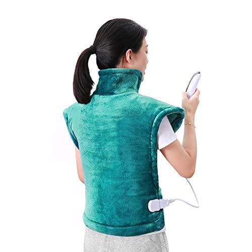 MaxKare Heizkissen für Rücken Schulter Nacken Abschaltautomatik Wärmekissen Heizschal und Schneller Heiztechnologie für Entlastung von Rücken und Schultern Heizdecke aus Angenehmem Flanellmaterial mit Ungewöhnliche Größe 60 x 90 cm
