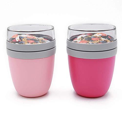 Mepal Lunchpot 2-er Set Ellipse nordic pink und pink Lunchbox