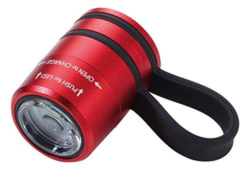 Troika ECO RUN – TOR90/RD – Taschenlampe – ideal beim Joggen – Sport- und Sicherheitslicht – mit Magnet zur Befestigung, weißes LED-Licht – 2 Lichtstärken + Blinklicht Original