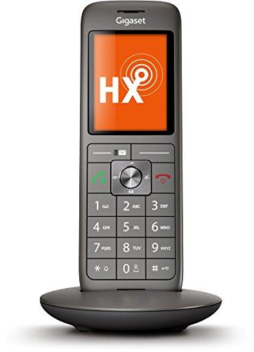 Gigaset CL660HX Telefon - Schnurlostelefon / Mobilteil - TFT Farbdisplay / Freisprechen / Grosse Tasten - IP Telefon - schnurlos / VoIP - Router kompatibel - anthrazit