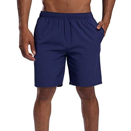 CAMEL CROWN Herren Shorts Kurze Hose Schnell Trocknend Atmungsaktive Sporthose Taschen Männer Running Fitness Gym Sport Shorts mit Kordelzug Training Shorts