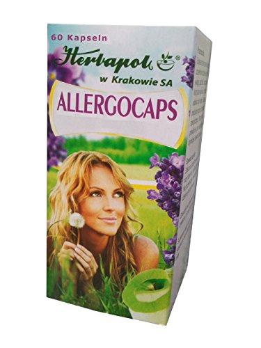 Allergocaps - mit Perilla Samen Extrakt, 60 Kapseln, bekämpfen natürlich Allergie jeder Art, nebenswirkungsfrei, bei Pollen- Nahrungsmittel- Milbenallergie, Heuschnupfen, ersetzen Allergietabletten, Allergie Nasenspray, augentropfen
