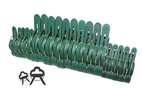 100 Pflanzenclips Pflanzenklammern Pflanzenhalter Pflanzenbinder Rankhilfen in 2 Größen (50 große + 50 kleine)