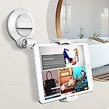 Cocoda Tablet Halterung mit Starkem Saugnapf, 360 °Drehbarer Universeller Tablet Ständer für iPhone/iPad/Samsung/Fire HD/Phone&Tablet mit 4~11 Zoll, Ideal für Spiegel/Fenster/Wände/Küche/Tische/Autos