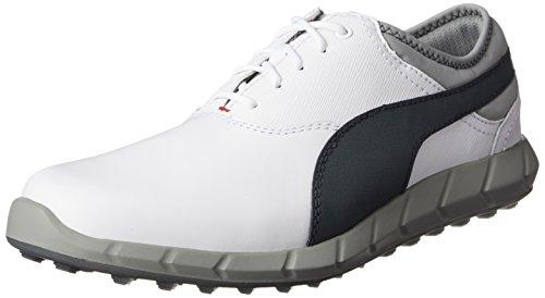 Puma Ignite Golf - white-turbulence-high risk red, Größe:8.5