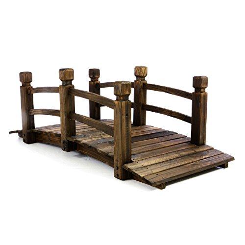 Nexos Holzbrücke rustikal braun, ca. L150 x B67 x H55 cm, bis 150 kg belastbar