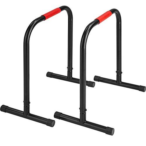 TecTake Power Station Fitness Rack Heimtrainer | geeignet für Liegestütze, Beinlifts und Dips | Stabiler Rahmen aus Stahlrohr | Höhe 70cm