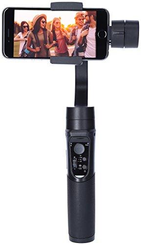 Rollei Smartphone Gimbal Steady Butler Mobile -3 Achsen Schwebestativ (Stabilisator/Steadycam) für Smartphones mit Integrierter Power Bank, inkl. App mit Vielen Funktionen