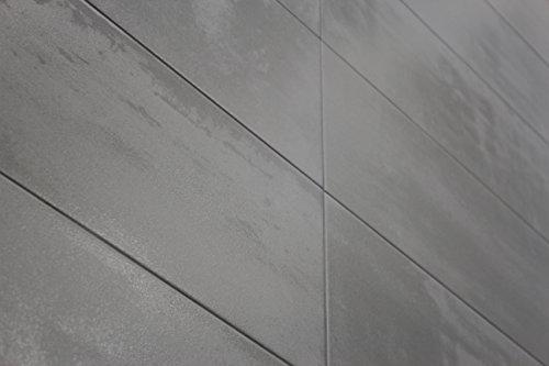 Wandfliese 'New York' | Industrie Look | Metall Optik | Breite 20 cm x Länge 60 cm | 1. Sortierung