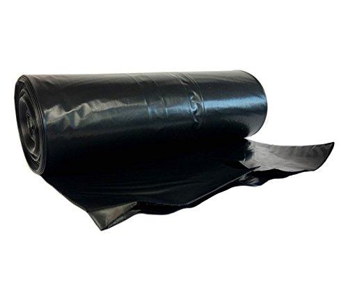 hocz 240 Liter Müllsack | reißfest extra stark  | 10 stück auf Rolle  | Typ 021 | Abfall-Säcke XXL Abfallbeutel Müllsäcke | 70 μ Schwarz | LDPE | Müllbeutel 1 Rolle
