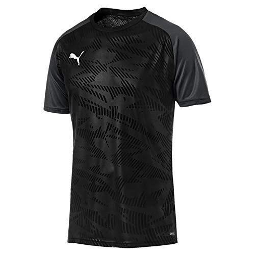 Puma Herren Cup Training Jersey Core Trainingsshirt, Black-Asphalt, 3XL