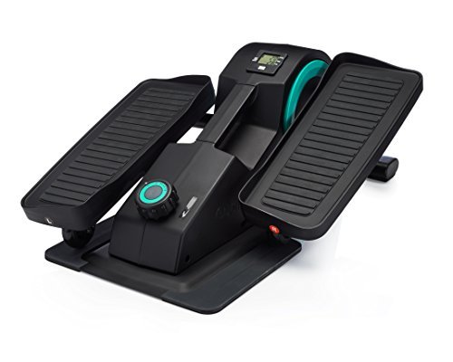 Cubii Jr: Desk Elliptical w/ Built In Display Monitor, Easy Assembly, Quiet & Compact, Adjustable Resistance Aqua (Aqua)