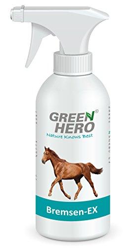 Green Hero Bremsen-Ex Spray für Pferde, 500 ml, Blocker gegen Bremsen, Zecken und Insekten, Pflegende Wirkung, Abwehrspray, Fernhaltemittel