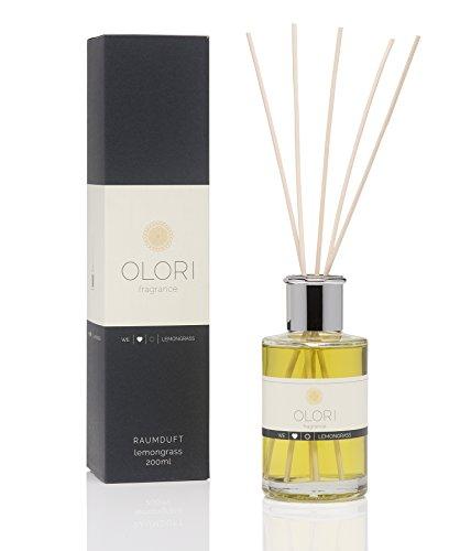OLORI Reed Raumduft - Lemongrass - 200 ml - verschiedene Sorten - natürlich, langanhaltend, frisch, fruchtig, spritzig