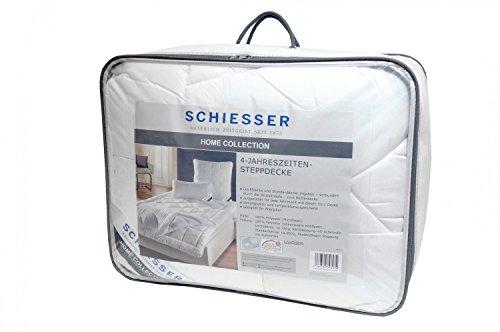 Schiesser 4-Jahreszeitendecke / 2-teilige Bettdecke / 135 cm x 200 cm / Allergiker geeignet / verschiedene Größen erhältlich