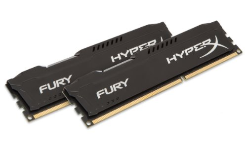 Kingston HyperX Fury HX316C10FBK2/16 Arbeitsspeicher 16GB (1600MHz, CL10, 2 x 8GB) DDR3-RAM Kit schwarz