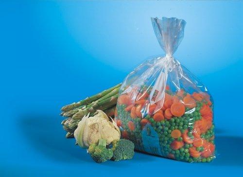 Papstar Gefrierbeutel / Gefriertüte, (100 Stück à 20 l), 60 x 40 cm, transparentes Material, aus LDPE, geeignet zum Einfrieren von Gemüse, Fisch, Fleisch und Backwaren, #19571