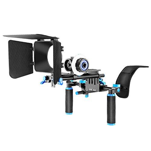 Neewer DSLR Anlage Set Film-Installationssatz Video-Käfig Rig Schulterstütze Film Macher-System, umfassen Schulter-Einfassung Folge Fokus und Matte Box für alle DSLR-Kameras und Video Camcorder
