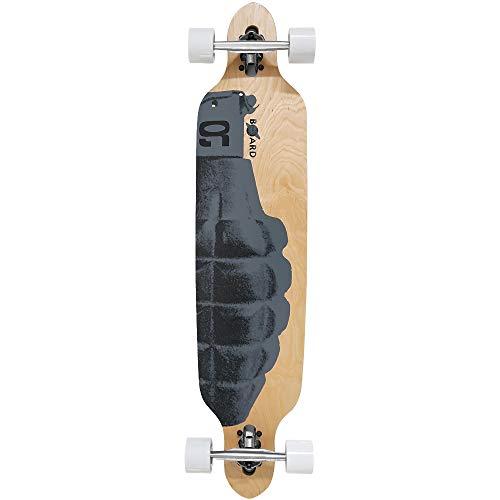 Atlantic Rift Longboard - 107x24cm - ABEC 9 - Drop Through Urban Art Komplettboard Motivauswahl
