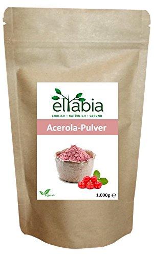 Acerola Pulver 1kg 1000g Maxi Pack natürliches Vitamin C eltabia