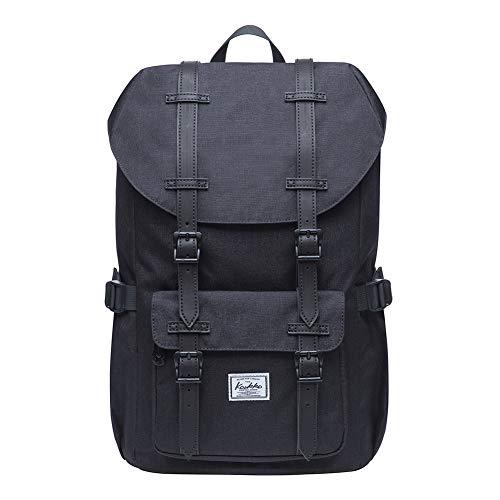 KAUKKO Rucksack Studenten 17 Zoll Backpack für 15' Notebook Lässiger Daypacks Schüler Bag für Wandern 41 cm, 16 L, Mini