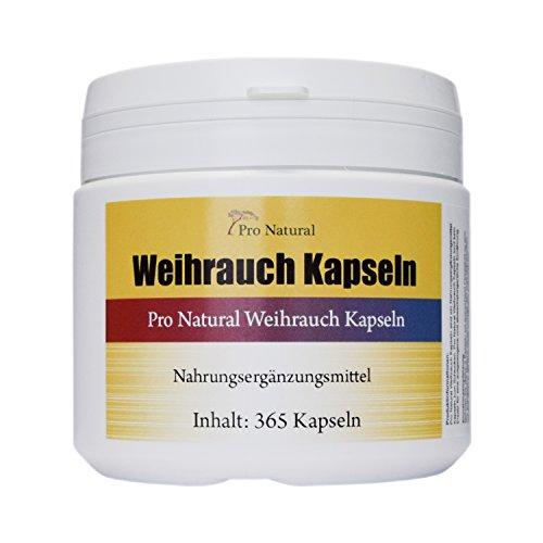 Weihrauch Kapseln hochdosiert 450mg - 365 Kapseln (vegetarisch), Weihrauchkapseln in der Dose, Boswellia als Cortison Alternative - Indischer Weihrauch