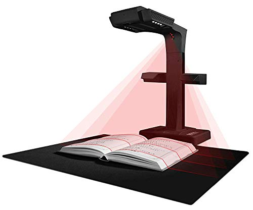 CZUR ET18Pro Fortschrittlicher Buchscanner & dokumentenscanner kompatibel mit Mac und Windows, patentierte automatische scan, konvertiert in PDF / durchsuchbare PDF / TIFF / Word / Excel