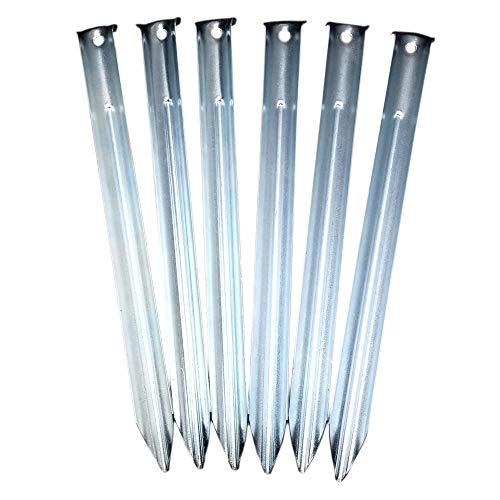 ToCi Stahlheringe mit V-Profil 23cm lang, Sandheringe, Zeltheringe im Set mit 12 Stück