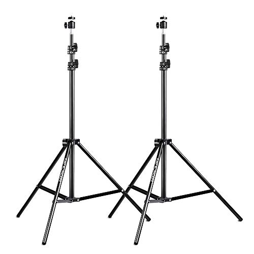 K&F Concept 2er-Pack Lichtstativ, 200cm Lampenstativ, Verstellbar Studiostativ aus Aluminium für HTC Vive VR, Fotografie, Ringlicht