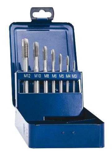 Exact 10316 Eventus Maschinengewindebohrer Sortiment Hochleistungsschnell-Stahl 7-teilig, Form B, M3-M12