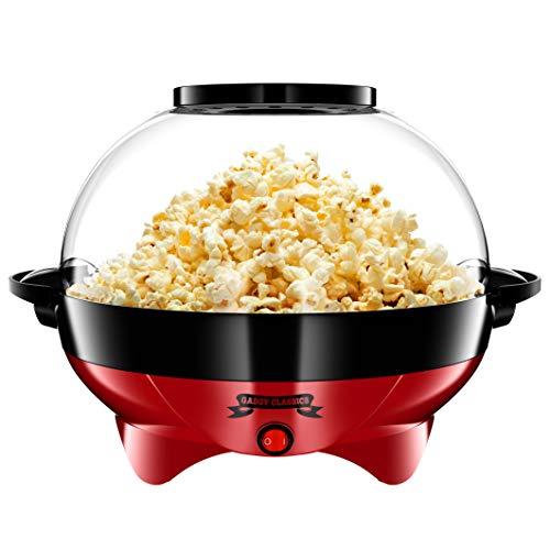 Gadgy  Popcornmaschine l mit Antihaftbeschichtung l Still und Schnell l 5 Liter