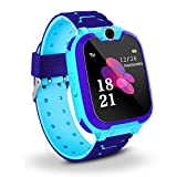 Bhdlovely Kids SmartWatch Phone Digital Camera Watch with Games, Music Player, Alarm Clock,Recorder, and 1.44 inch Touch LCD for Boys Girls Birthday Blue (Blue)