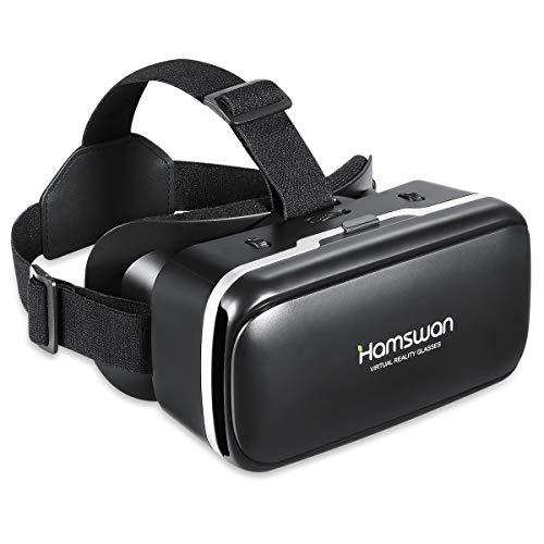 [2019 Neue Version] HAMSWAN 3D VR Brille, HD Virtual Reality für Smartphone iPhone, Samsung Sony, Android und Handys mit 4,5 – 6,0 Zoll