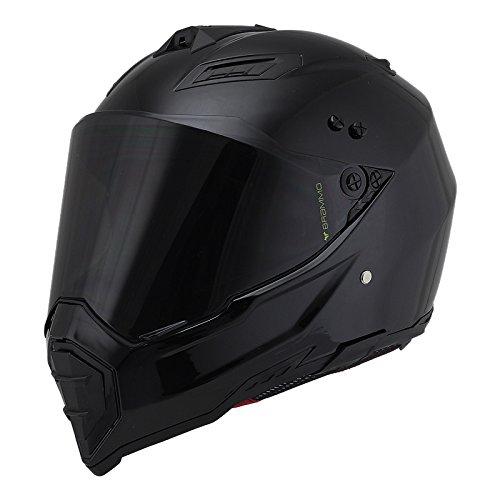 Woljay Off Road Helm Motocross-Helm Motorradhelm Motocrosshelme Fahrrad ATV (L, Schwarz)
