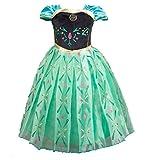 Cacilie Prinzessin Kostüm Kinder Glanz Kleid Mädchen Weihnachten Verkleidung Karneval Party Halloween Fest (140( Körpergröße 140cm), Anna #06)
