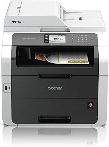 Brother MFC-9342CDW Kompaktes 4-in-1 Farb-Multifunktionsgerät (Drucken, scannen, kopieren, faxen, A4, 22 Seiten/Min., 2.400x600 dpi, LAN, WLAN, Vollduplex, ADF, Print AirBag für 150.000 Seiten)