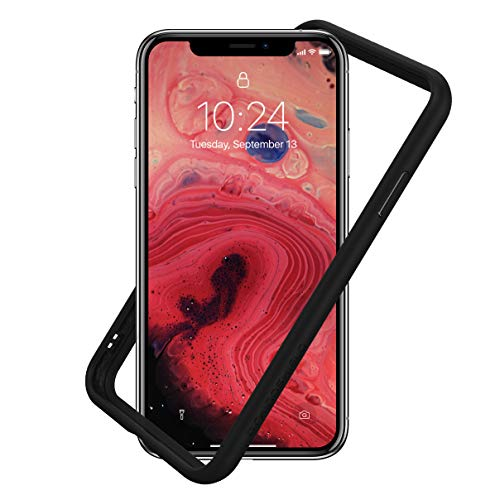 RhinoShield Dünnes Bumper Case für iPhone XR [CrashGuard NX] Schock Absorbierende Schutzhülle mit minimalistischem Design [3,5 Meter Fallschutz] - Schwarz