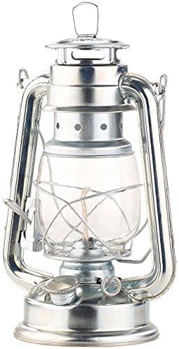 Lunartec Petroleum Lampen: Nostalgische Petroleum-Sturmlaterne mit Glaskolben, verzinkt, 24 cm (Nostalgische Laterne)