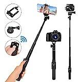 Selfie-Stick, 129,9 cm, Selfie-Stick, Einbeinstativ, abnehmbare Bluetooth-Fernbedienung, kompatibel mit iPhone 6 7 8 X Plus, Samsung Galaxy S9 Note 8, GoPro, Digitalkameras