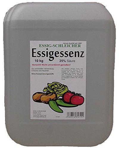 Essig-Essenz 10,15kg Kanister. 25 Prozent Säure - Besonders Ergiebig Und Wirkstark
