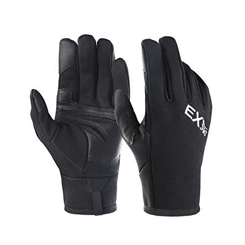 EXski Laufhandschuhe Herren Touchscreen Handschuhe Outdoor Sport Motorrad Moped Radfahren Running Warm Leicht