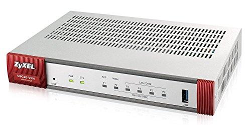 Zyxel Next Generation 350 Mbit/s VPN-Firewall, empfohlen für bis zu zehn Benutzer  (IPsec, SSL) [USG20-VPN]