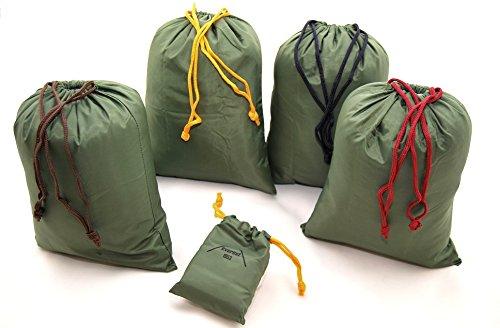 5er Set Aufbewahrungsbeutel Flachbeutel Packtasche schafft Ordnung im Rucksack everest1953
